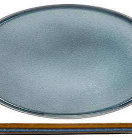 Cosy & Trendy Cosy & Trendy Quintana blue plat bord 35,5X23,5CM Ovaal - 2936036