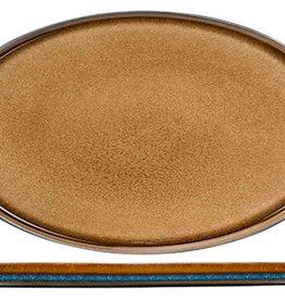Cosy & Trendy Cosy & Trendy Quintana amber Plat Bord Ovaal 35,5X23,5CM - 5950036