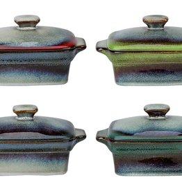 Cosy & Trendy Cosy & Trendy Jamiro Mix Ovenpotje 13x9xH5,3cm 4 Ass Rechthoekig met deksel  8240139