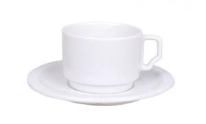 Güral Porselen Tas en ondertas Wit 17cl Gural Venus 10026