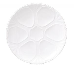 Güral Porselen Gural Delta Oesterbord 27,5cm (voor 6 oesters) 3063