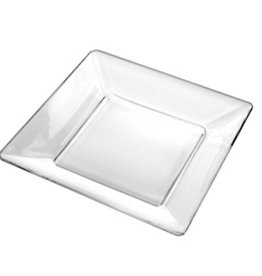 Borgonovo  OPRUIMING Borgonovo Modi Vierkant bord 21x2 Glas Transparant