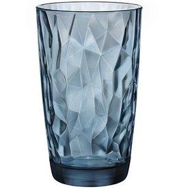 Bormioli Rocco Bormioli Rocco Diamond Longdrink 47 cl 6 stuks Blauw 350260-M02