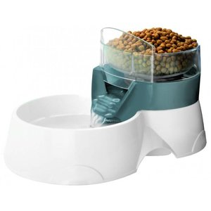 EBI Drink- en Voederbak Pet Feeder 2 in 1 Grijs