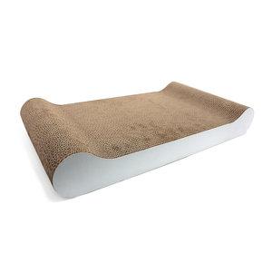 Duvo+ Karton Krabplank Sophie Sofa Wit (Met kattenkruid)