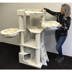 RHRQuality Cat Tree Corner Coon Cream