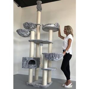RHRQuality Cat Tree Catdream de Luxe Light Grey