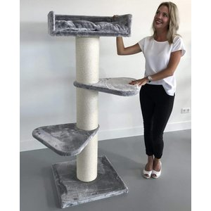 RHRQuality Cat Tree Royalty Light Grey