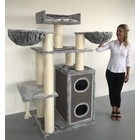 RHRQuality Cat Tree Cat Paradise Light Grey