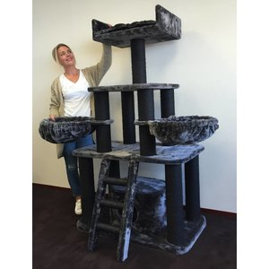 RHRQuality Cat Tree Panther Blackline Dark Grey