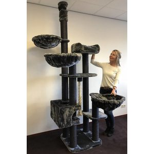RHRQuality Cat Tree Catdream de Luxe Blackline Dark Grey