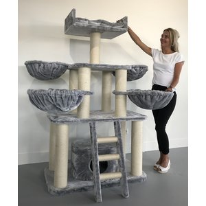 RHRQuality Cat Tree Panther PLUS Light Grey