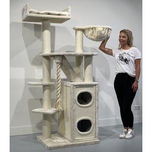 RHRQuality Cat Tree Cat Penthouse Cream