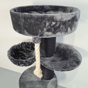 RHRQuality Tiragraffi Maine Coon Sleeper Plus Blackline Dark Grey