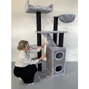 RHRQuality Tiragraffi Cat Penthouse Blackline Light Grey