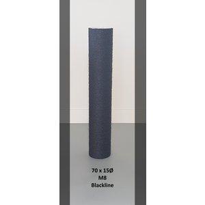 RHRQuality Palo Sisal 70x15 M8 BLACKLINE