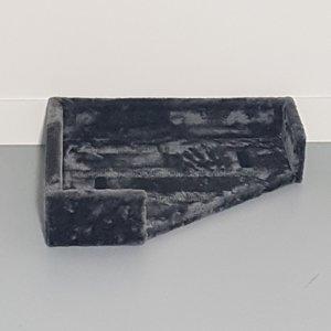RHRQuality Letto + Cuscino Corner Coon Dark Grey