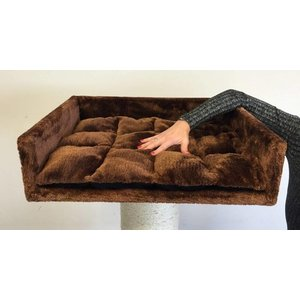 RHRQuality Lounge Letto + Cuscino Brown