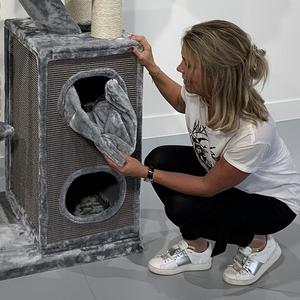 RHRQuality Scatola Graffiare - Tiragraffi Cat Penthouse Light Grey