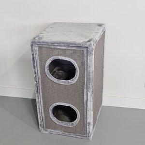 RHRQuality Scatola Graffiare - Tiragraffi Cat Paradise Light Grey