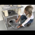 RHRQuality Scatola Graffiare - Tiragraffi Cat Relax Light Grey