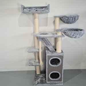 RHRQuality Tiragraffi Cat Penthouse Plus Light Grey