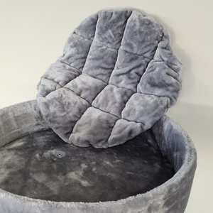 RHRQuality Lettino Rotondo + Cuscino Sleeper Light Grey