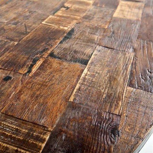 Eettafel ovaal met metalen poot 240x100 cm