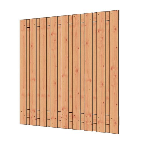 Trendhout Douglas tuinscherm geschaafd 19 planks 180x180cm