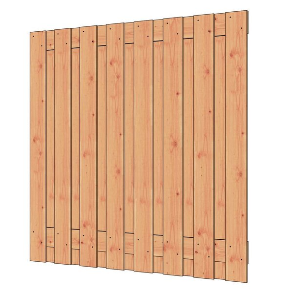 Trendhout Douglas tuinscherm fijnbezaagd 17 planks