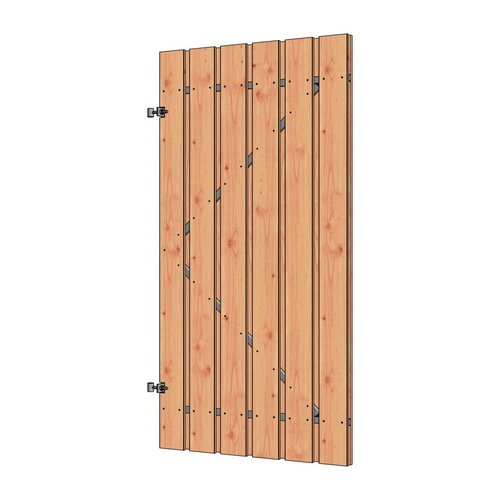 Trendhout Douglas poortdeur fijnbezaagd 10 planks 100x190cm