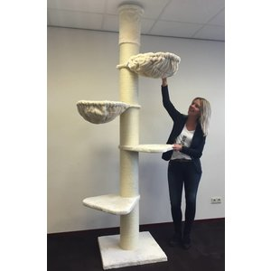 RHRQuality Cat Tree Maine Coon Tower Cream