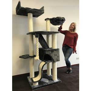RHRQuality Cat Tree Kilimandjaro de Luxe Dark Grey