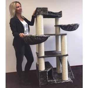 RHRQuality Cat Tree Corner Coon Taupe