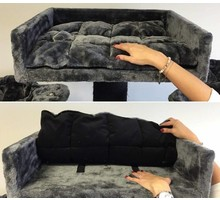 RHRQuality Cat Bed Lounge + Pillow Antracite