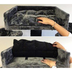 RHRQuality Ligbak Lounge + Kussen Dark Grey