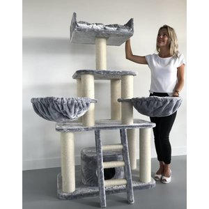 RHRQuality Cat Tree Light Grey Panther