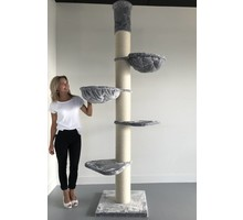 RHRQuality Cat Tree Maine Coon Tower Light Grey