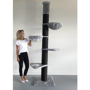 RHRQuality Cat Tree Maine Coon Tower Blackline Light Grey