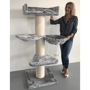 RHRQuality Cat Tree Royalty PLUS Light Grey