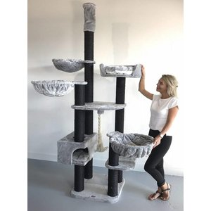 RHRQuality Cat Tree Catdream de Luxe Blackline Light Grey