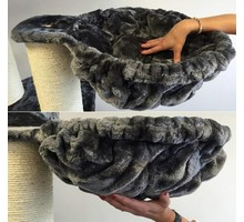 RHRQuality Hangmat 45cm de Luxe Dark Grey Ø 12cm