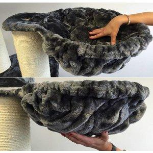 RHRQuality Liegemulde 45 cm de Luxe Dark Grey Ø12cm