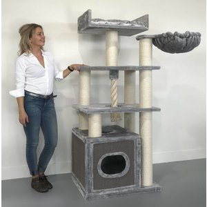 RHRQuality Cat Tree Cat Relax Light Grey