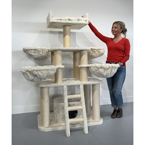 RHRQuality Cat Tree Panther PLUS Cream