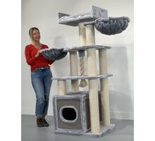 RHRQuality Kratzbaum Cat Relax PLUS Light Grey
