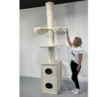 RHRQuality Cat Tree Cat Tower Box Cream