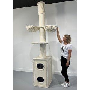 RHRQuality Cat Tree Cat Tower Box Cream