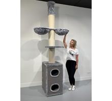 RHRQuality Cat Tree Cat Tower Box Light Grey