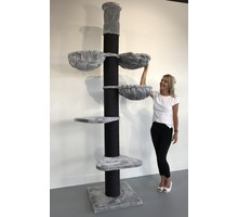 RHRQuality Cat Tree Maine Coon Tower PLUS Blackline Light Grey